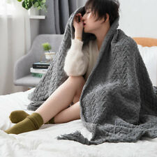Super Soft Knitted Warm Throw Tassel Blanket Sofa Bedroom Aircondition Blankets