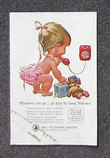 BELL TELEPHONE SYSTEM AT&T 1962 Original Vintage Magazine Advertisement Brochure