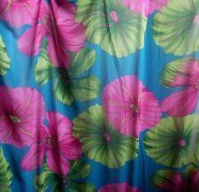 Chiffon Sheer Fabric Blue Pink Fuchsia Green Floral Large Petal Sheer Fabric Bty
