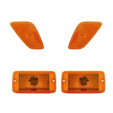 4 Piece Set Turn Signal Side Marker Lights  Fits 1997-2006 Jeep Wrangler