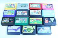 Nintendo  Famicom cartridges  Lot of 15  retoro games  nes version JAPAN  1
