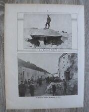 Blatt 1914-22 Belgien Panzerturm Fort Marchevolette Namur Soldaten WWI WWI 1.WK