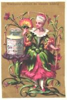 6 cards c1883 LIEBIG Flowers anthropomorph girls, complete set litho chromos