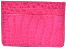Beautiful French Rose Many Card Slots Premium Crocodile Leather New Card Wallet