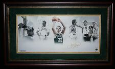 LARRY BIRD MATTED AND FRAMED AUTOGRAPHED LITHO 8/33 STEINER AUTHENTICATED