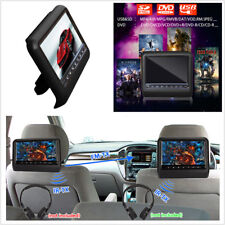"12V 9""Car DVD LCD Headrest USB SD HDMI FM IR Monitor Player Games Remote Control"