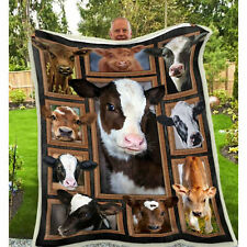 Cows Pattern Quilt Blanket, Cow Owner Gifts, Farmer Quilt Blanket, Farmer Gift