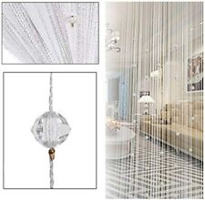 Crystal Beaded String Door Curtain Beads Room Divider Fringe Window Panel Drapes