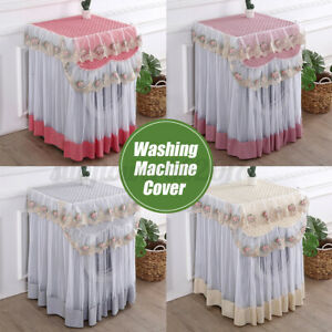 Lace Dustproof Protector Floral Washing Machine Cover 60*60*85cm For