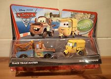 DISNEY PIXAR CARS DIECAST RACE TEAM MATER & SAL MACHIANI EXCLUSIVE VEHICLE SET