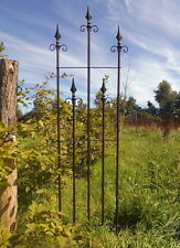 2er Set Fiche zaunelement treillis palissade fer style rustique antique jardin