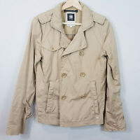 G STAR RAW | Womens Beige Peacoat Jacket [ Size S  or AU 10 / US 6 ]
