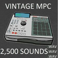 Vintage Akai MPC Drum Sounds 2500 Samples Kit .pgm .wav 60 3000 2000 xl hip hop