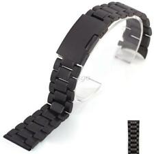 Stainless Steel Strap Band Clasp Metal Watch Bracelet 18/20/22/24mm Replacement