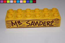 Lego Duplo - Mr. Sanders - Winnie Pooh - gelb - 2x6 12er - Motivstein