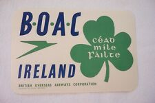 More details for boac british overseas airways corporation ireland airline luggage label