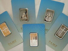 5) 10~GRAM ~.9999 SILVER ~ ALL 5 ~ PAMP SUISSE ~ RELIGIOUS SERIES BARS ~ $108.88
