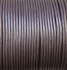 Imported India Leather Cord 2mm Round 5 Yards Metallic Purple Light