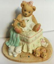 Very Rare Cherished Teddies 128058 Bear Ottoman Musical Slippers Rabbit Cub Nib!
