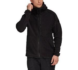 adidas Men's ZNE Fast Release Zip Polar Fleece Hoodie Warm Hooded Top Jacket