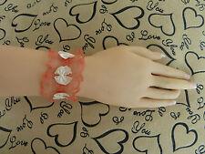 ORANGE LACE Bracelet/Wristband.Vintage-Retro-Goth-Wedding. Necklace/Choker. R503