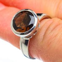 Smoky Quartz 925 Sterling Silver Ring Size 7.5 Ana Co Jewelry R45949