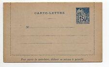 COLONIE FRANCAISE Colonies générales entier postal carte lettre alphée Dubois 15