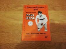 1980 Paul Rose Testimonial Brochure - Hull Kingston Rovers