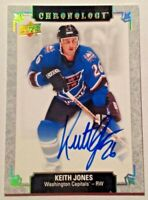 2018-19 Upper Deck Chronology Signatures Keith Jones Autograph Capitals Auto