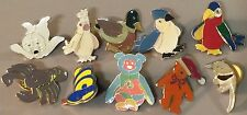 TY Beanie Baby Babies ASSORTED ANIMALS Collection of 10 Lapel PIN Badges 1990s