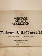 Department 56 Dickens Village Wm. Wheat Cakes & Puddings 1993 W/Box #5808-4 Nib