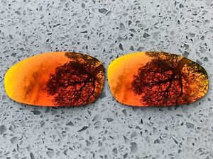 ETCHED POLARIZED FIRE RED MIRRORED REPLACEMENT LENSES FOR OAKLEY JULIET X METAL