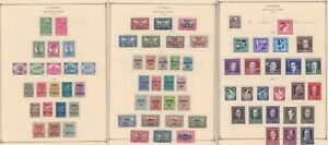 Austria semipostals, pre-1940, mint and used