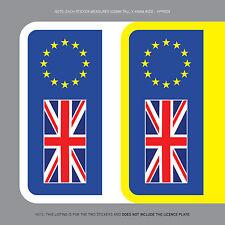 SKU1106 2 x Euro Number Plate Stickers EU European Car Badge Vinyl