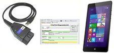 """CarPort Pro OBD2 Interface Diagnosegerät + Tablet 7"""" VAG KKL Can UDS VW-Tester"""