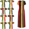 Rasta string vest dress, splits on sides, Ladies, dresses hip hop urban dance