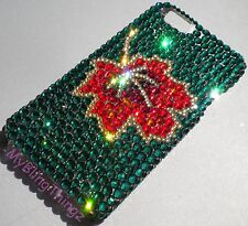 MAPLE LEAF Crystal Rhinestone Bling Back Case for iPhone 5 w/ Swarovski Elements