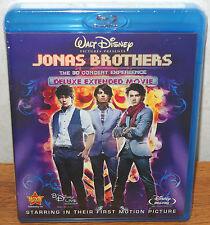 Disney's Jonas Brothers The 3D Concert Experience (Blu-ray/DVD 3-Disc Set) NEW