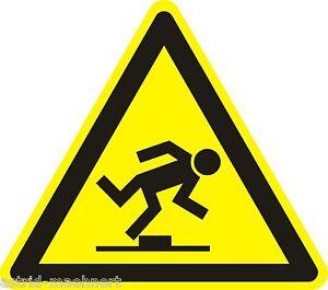 WARNZEICHEN _ Warnung vor Stolpergefahr _ ca. 6cm