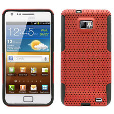 SAMSUNG i9100 ATTAIN GALAXY S2 SPORTY HYBRID 2 TONE CASE RED/BLACK