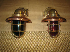 Medium Bronze 90 degree Passageway lights - PAIR Port & Starboard ship lights