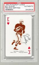 Bill Dudley AUTO 1963 Stancraft PSA/DNA Pittsburgh Steelers HOF
