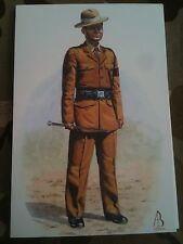 Military Postcard Regimental Police Sergeant Royal Gurkha Rifles by Alix Baker