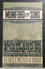 Mumford & Sons Nathaniel Rateliff Hatch Show Print Concert Poster Portland 2011