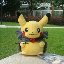 "Pokemon Center Go Plush Toy Pikachu With Black Rayquaza Suit 8"" Nintendo Doll"