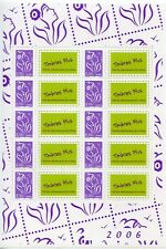 TIMBRE PERSONALISE N° F3916A ** FEUILLE DE 10 TIMBRES MARIANNE / COTE ++ 20 €