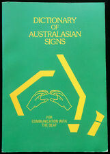 Dictionary of Australasian Signs Communication with the Deaf 2,200 Signs Book