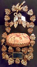 Antique French 19thC Globe de Mariee Wedding Crown & Marriage Keepsake Stand