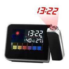 Weather Digital LCD Projector Clock Alarm Calendar Snooze Humidity Temperature