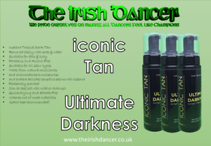 Iconic Tan Ultimate Darkness Instant/Wash off Fake Tan Mousse - 200ml